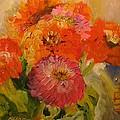 Zinnias by Susan Elizabeth Jones
