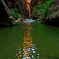 Zion Reflections - The Narrows At Zion National Park. by Jamie Pham