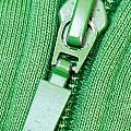 Zipper Of A Green Sweater by G J