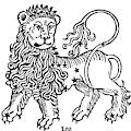 Zodiac Leo, 1482 by Granger
