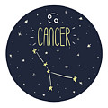 Zodiac Signs Doodle Set - Cancer by Radiocat
