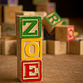 Zoe - Alphabet Blocks by Edward Fielding