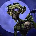 Zombie Head-hunter by Jephyr Art