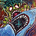 Zombie Shark Fight by Laura Barbosa