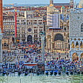 Zoom On St Marks Square Venice Italy by M Bleichner