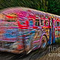 Zooming Graffiti Bus by Susan Candelario