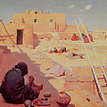 Zuni Pottery Maker by William Robinson Leigh