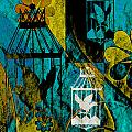 3 Caged Birds Grunge by Angelina Vick