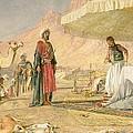 A Frank Encampment In The Desert Of Mount Sinai by John Frederick Lewis