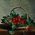 Basket Of Strawberries by Johan Laurents Jensen