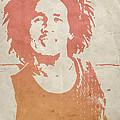 Bob Marley Brown by Naxart Studio