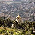 Church Of St Mary Magdelen Mount Of Olives  Jerusalem by Daniel Blatt
