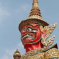 Demon Guardian Statues At Wat Phra Kaew by Panyanon Hankhampa