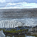 Detifoss Waterfall In Iceland - 01 by Gregory Dyer