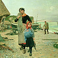 Fisherfolk Returning With Their Nets by Henry Bacon