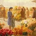 Flower Market  by Hendrik Heyligers