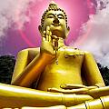 Golden Love Buddha by Harry Spitz