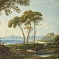 Landscape With Harlech Castle by John Varley