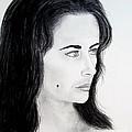 Liz Taylor Portrait by Jim Fitzpatrick