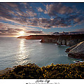 Lydstep Cliffs Sunset by Beverly Cash