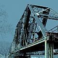 Mississippi River Rr Bridge At Memphis by Lizi Beard-Ward