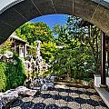 Moon Gate In Chinese Scholar Garden by Val Black Russian Tourchin