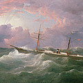 Portrait Of The Lsis A Steam And Sail Ship by Samuel Walters