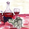 Red Wine by Sharon Mick