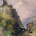 The Castle Of Katz On The Rhine by William Callow