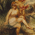 Venus And Love Allegory by Pierre Auguste Renoir