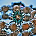 0001 Turquoise And Pearls by Michael Frank Jr
