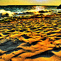 0008 Windy Waves Sunset Rays by Michael Frank Jr