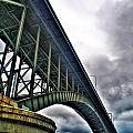 002 Stormy Skies Peace Bridge Series by Michael Frank Jr