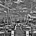 005bw On A Summers Day  Erie Basin Marina Summer Series by Michael Frank Jr