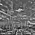 007bw On A Summers Day  Erie Basin Marina Summer Series by Michael Frank Jr