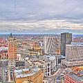 037 Series Of Buffalo Ny Via Birds Eye Downtown Buffalo by Michael Frank Jr