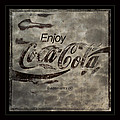 Coca Cola Sign Grungy Red Retro Style by John Stephens
