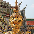 Demon Guardian Statues At Wat Phra Kaew by Panyanon Hankhampa