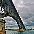 009 Stormy Skies Peace Bridge Series by Michael Frank Jr