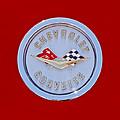 1958 Chevrolet Corvette Emblem by Jill Reger