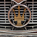 1960 Maserati 3500 Gt Coupe Emblem by Jill Reger