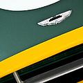 1993 Aston Martin Dbr2 Recreation Hood Emblem by Jill Reger