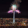 2011 New Year's Fireworks - The Stratosphere by Mark Whitt