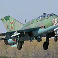A Bulgarian Air Force Mig-21um Jet by Anton Balakchiev