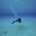 A Diver On A Scooter Explores The Clear by Terry Moore