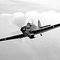 A Hawker Hurricane Aircraft In Flight by Scott Germain