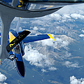 A Kc-135 Stratotanker Refuels An Fa-18 by Stocktrek Images