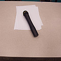 A Microphone On The Lectern Of A Presentation Room by Ashish Agarwal