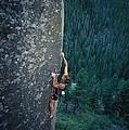 A Rock Climber In Montanas Hyalite by Gordon Wiltsie