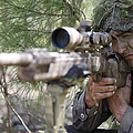 A Sniper Sights In On A Target by Stocktrek Images